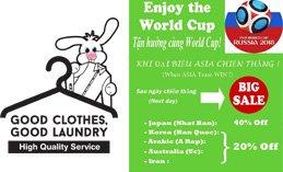 Japan Laundry- Tận hưởng cùng World Cup 2018