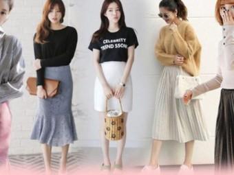 Japan Laundry bật mí cách kết hợp trang phục với chân váy da