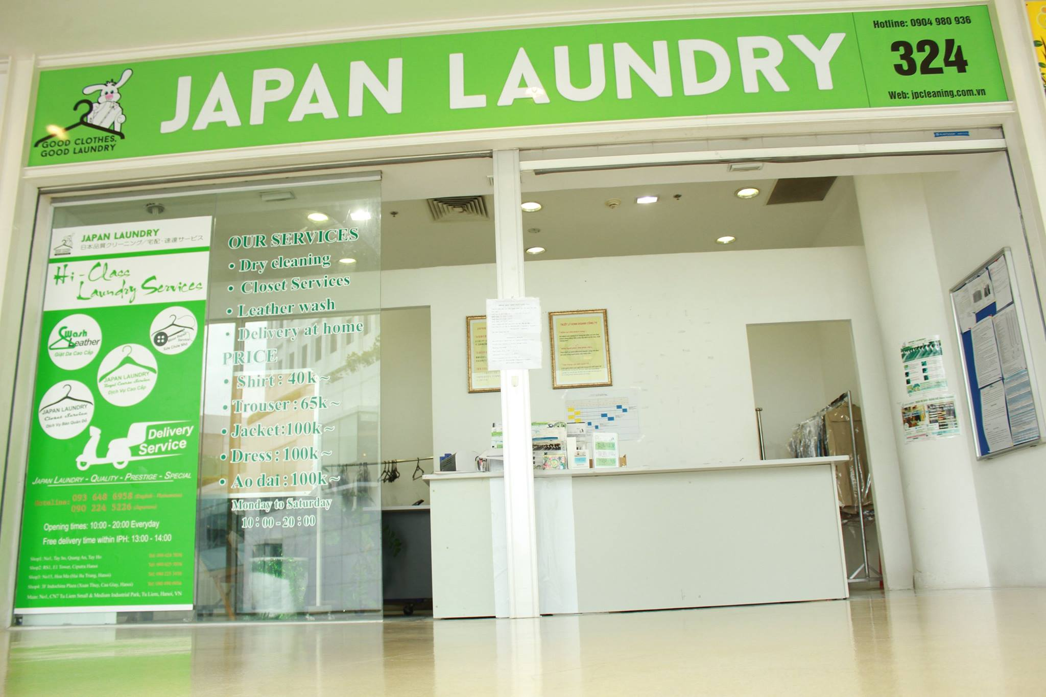 Japan LaunDry - Địa chỉ giặt là tại Hà Nội được đánh giá cao