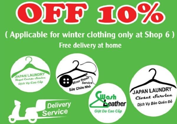 Đón chào mùa đông - Giảm sốc 10% dịch vụ giặt đồ đông tại Japan Laundry