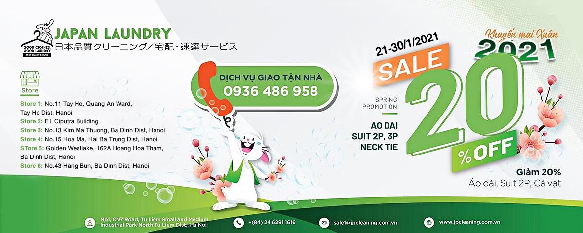 Japan Laundry khuyến mãi xuân 2021 – Sale off 20%