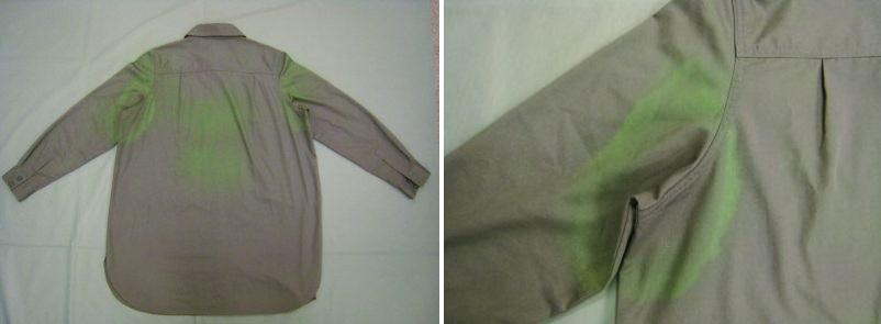Thay đổi màu sắc trang phục do tia cực tím
